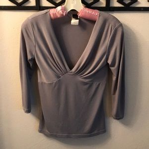 Wrapper V-necked Women's Blouse